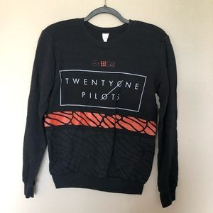 TWENTY ONE PILOTS Graphic Band Sweatshirt Medium